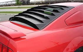 mustang rear louvers mustang rear window louvers aluminum 05 14 lmr