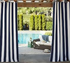 50 X 96 Curtains Sunbrella Awning Stripe Indoor Outdoor Grommet Drape Pottery Barn
