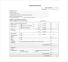 wage slip template payroll pay slip report