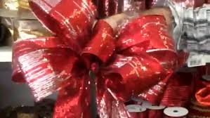how to make a christmas bow by the heeney company youtube