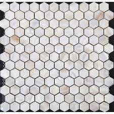 of pearl tiles backsplash cheap hexagon mosaic bathroom