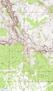 Topographical Map Of New Mexico by Topographic Map Of Death Hollow Grand Staircase Escalante