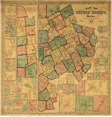 Map Maine Cumberland County Maine Maps