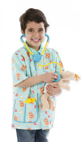 amazon com melissa u0026 doug pediatric nurse role play costume set