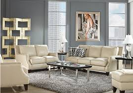 rooms to go living rooms picture of sofia vergara bal harbour 2 pc beige leather living room