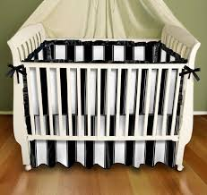 Black Baby Bed Black And White Stripe Baby Bedding Crib Bedding By Sin In Linen