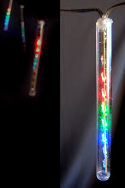 operated led meteor snowfall light rgb