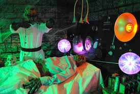 halloween lighting effects ideas mad scientist and his victim pictures photos and images for