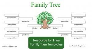 free family tree template for cub scouts cub scout ideas
