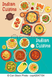 indian cuisine traditional dinner icon indian cuisine clipart