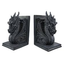 dragon home decor my books are lonely without their dragon bookends to keep them