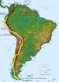 Central And South America Map Quiz by Physical Map Of South America Ezilon Maps For Andes Mountains Jpg