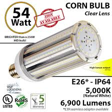 250 watt equivalent led light bulbs 300w led replacement bulbs equal 54 watt bright corn light 5000k