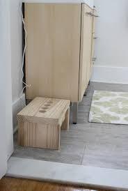 Bathroom Stool Wood Diy Bathroom Step Stool For Kids Merrypad