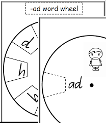 free word wheels printable sight words and word family