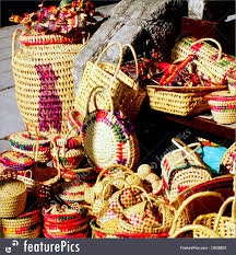 Mexican Gift Basket Toys And Souvenirs Mexican Baskets Stock Image I3638800 At