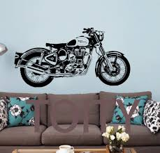 compare prices on motorcycle wall murals online shopping buy low royal enfield motorbike wall art sticker classic english motorcycle decal boy room sport mural china