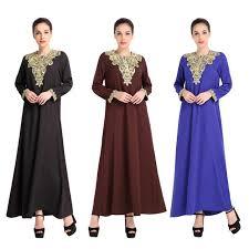 2017 muslim stitching fashion big swing skirt middle east