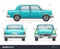 classic cars clip art front back side point view retro stock vector 649132300 shutterstock