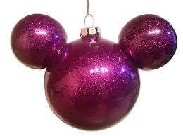 ornament mickey mouse ears sparkle purple