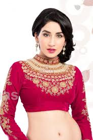 readymade blouse attractive pink color stitched readymade blouse