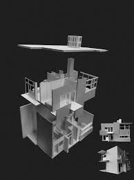 architectural model kits schroder house model by forest druid on deviantart