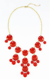 red flower necklace images Red bubble necklace bauble bib necklace with hanging beads jpg