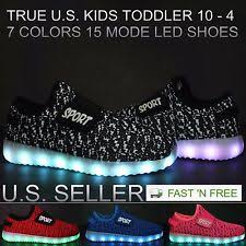 boys size 3 light up shoes us size 3 casual shoes for boys with hook loop fasteners ebay