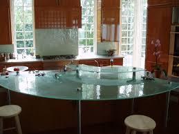 Zinc Kitchen Island - 34 arc shaped art glass countertops resize two level kitchen