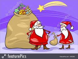 holidays santa claus cartoon christmas stock illustration