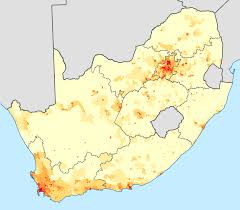 geographical distribution of afrikaans in south africa density of