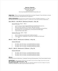Restaurant Owner Resume Sample by Manager Resume Sample Templates 43 Free Word Pdf Documents