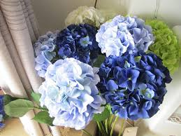silk hydrangea 10 pcs silk hydrangea flower with stem 8 colors wedding table