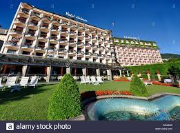 hotel astoria stresa lago maggiore italy stock photo royalty