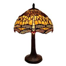 amora lighting 18 in tiffany style dragonfly design table lamp