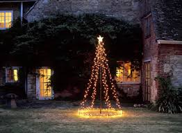 lighted christmas tree yard decorations diy outdoor christmas decorations ideas dma homes 35728