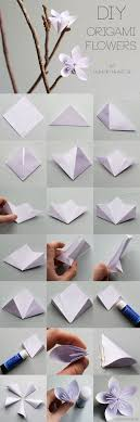 Step By Step Origami For - diy origami flower tutorial hungry
