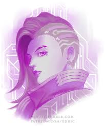 sombra purple hack by luffie just a simple portrait poster of