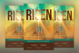 easter cantatas for church risen easter church flyer template inspiks market