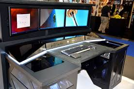 Gaming Computer Desks For Home Enchanting Gaming Pc Desk Setup Best Home Office Furniture Ideas