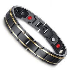 titanium steel bracelet images Magnetic new fashion lovers 39 jewelry black gold titanium steel jpg