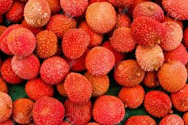 lychee fruit candy closeup of fresh bunch of ripe and delicious lychee fruits at