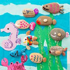hello wonderful cute rock fish craft