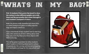 find my yearbook picture what s in my bag an interactive page to enliven your yearbook