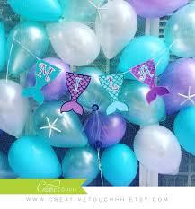mermaid birthday banner mermaid banner mermaid birthday