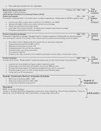 a resume format for a the hybrid resume format