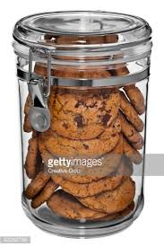 clear cookie jar of cookies stock photo getty images