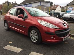 peugeot 207 red used peugeot 207 hatchback 1 4 hdi s 5dr a c in london greater