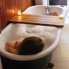 wood bathtub caddy with reading rack best bathtub tray for reading living room interior