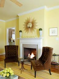 interior design beautiful yellow scheme living room decoration